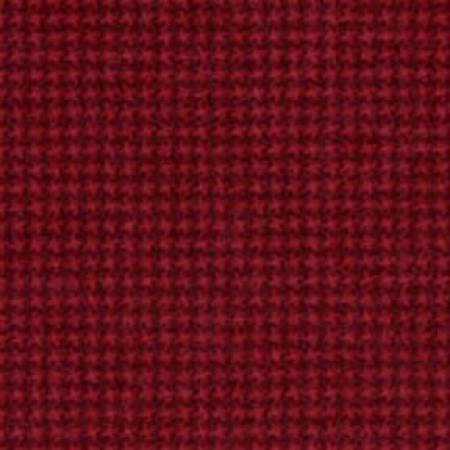 Deep Red Tiny Houndstooth Flannel