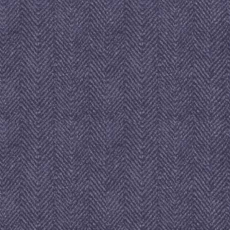 Woolies Flannel - Herringbone - Purple