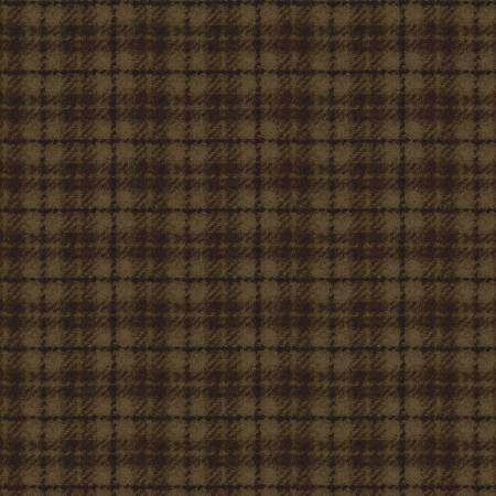 Woolies Flannel, brown check