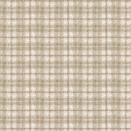 Woolies Flannel - Tan MASF18502-E - by Bonnie Sullivan for Maywood Studio