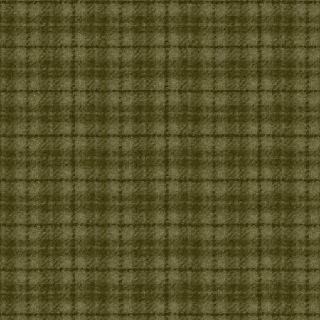Woolies Flannel Light Green Plaid