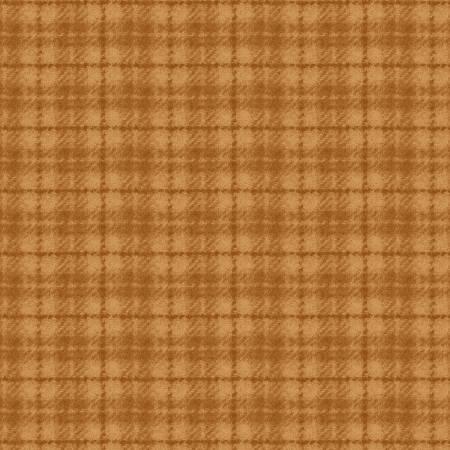Woolie Flannel - Gold Checker