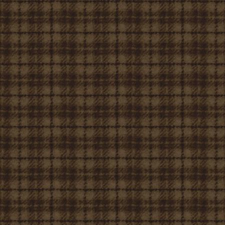 Maywood Studio - Woolies Flannel Dark Brown Plaid
