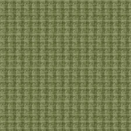 Woolies Flannel Green Windowpane