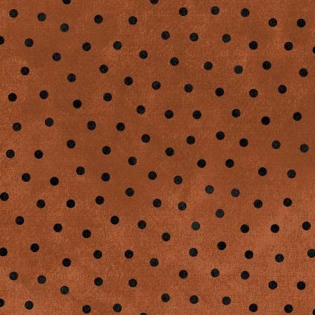 Woolies Flannel - Orange w/ Black Dot