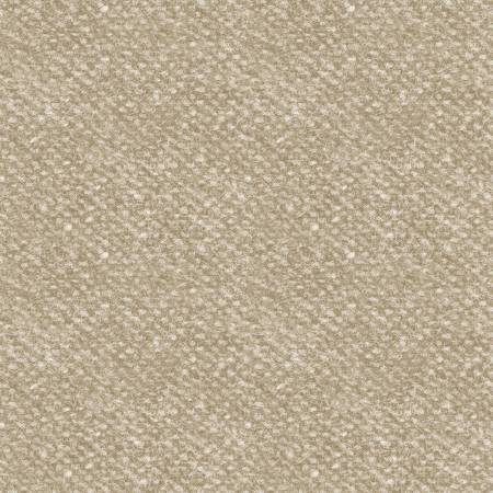 Woolies Flannel Tan Nubby Tweed