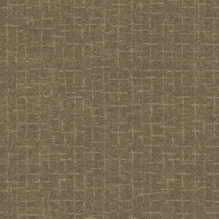 Woolies Flannel Gray Cobblestone Crosshatch