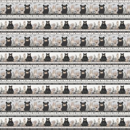Multi Novelty Animal Stripe on Flannel