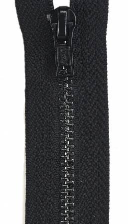 All-Purpose Metal Zipper 7in Black