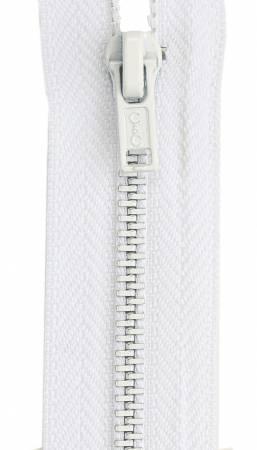 All-Purpose Metal Zipper 7in White