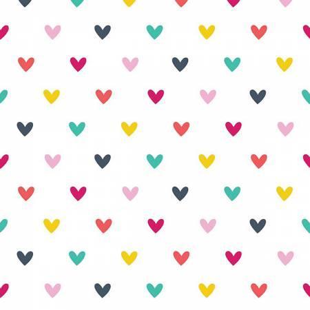 Hearts Multi Flannel