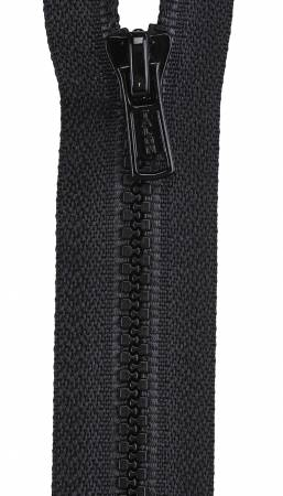 Mid Weight Polyester 1-Way Separating Zipper 18in Black