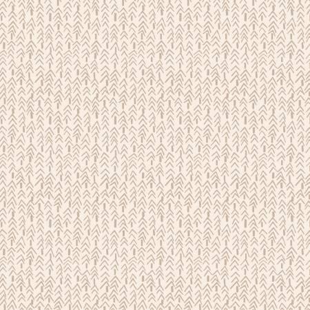 Folk Art Flannel III Cream Tweed Trees on Flannel