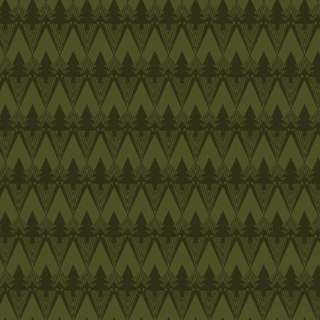 Forest Mountain Texture on Flannel