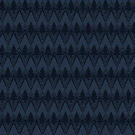 Folk Art Flannel III Indigo Mountain Texture