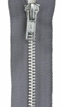 5in Slate Aluminum Closed Fashion Zipper