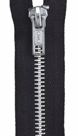 Aluminum Closed Fashion Zipper 7in Black