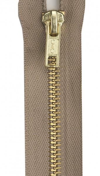 Heavy Weight Brass 1-Way Separating Zipper 18in Dogwood