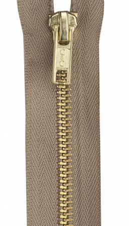 Heavy Weight Brass 1-Way Separating Zipper 20in Dogwood