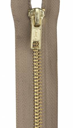 Heavy Weight Brass 1-Way Separating Zipper 24in Dogwood
