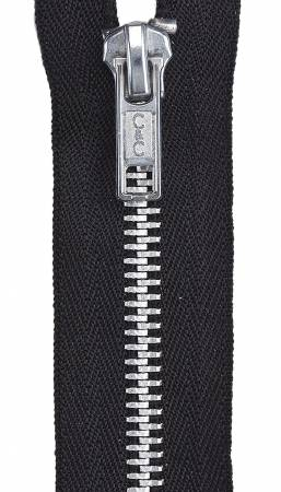 Aluminum Separating Fashion Zipper 24in Black