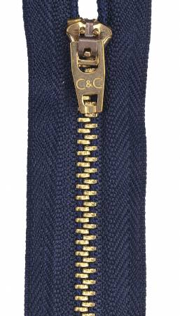 Packaged Metal Jean Zipper 9in Navy