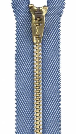 Packaged Metal Jean Zipper 9in Faded Denim