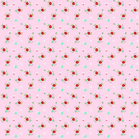 Little Floral Pink In Flannel F3275