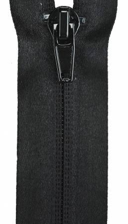 Water Resistant 1-Way Separating Zipper 22in Black