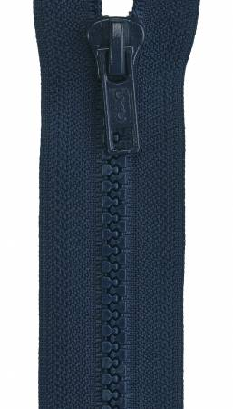 Sport Polyester 1-Way Separating Zipper 24in Navy