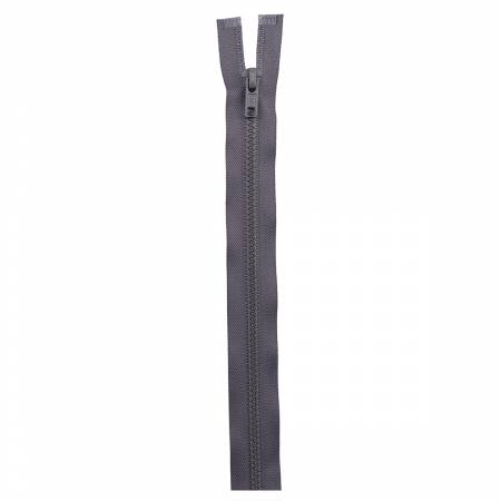 Sport Polyester 1-Way Separating Zipper 24in Stone