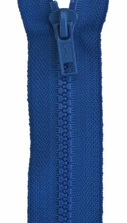 Sport Polyester 1-Way Separating Zipper 28in Blue Bird