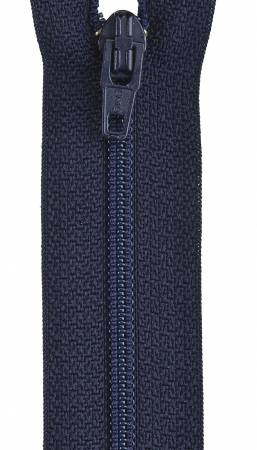 Lightweight Polyester Coil 1-Way Separating Zipper 10in Navy