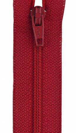 Lightweight Polyester Coil 1-Way Separating Zipper 10in Red