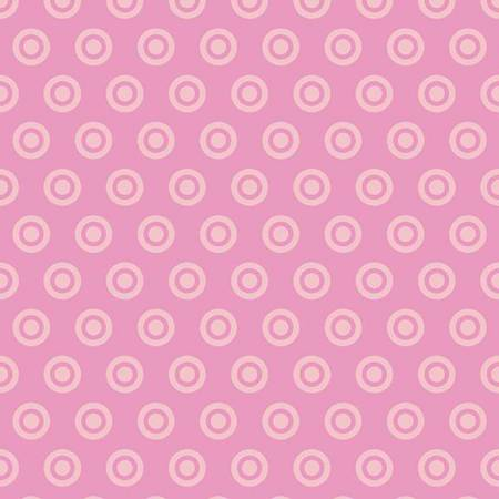 Circle Dot Flannel Pink