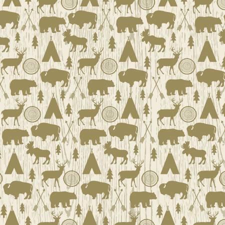 Riley Blake Designs High Adventure Cream Flannel
