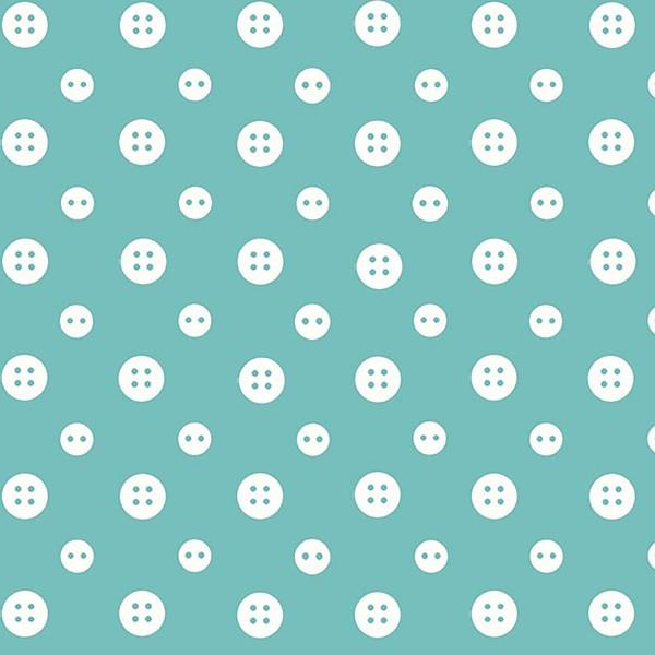 Ric Rac Paddywack - White buttons on blue