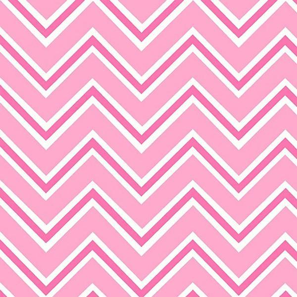 Henry Glass & Co. Ric Rac Paddywack Pink Chevron Flannel