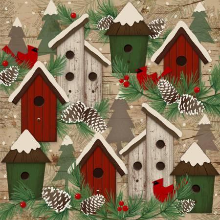 Multi Birdhouses Flannel