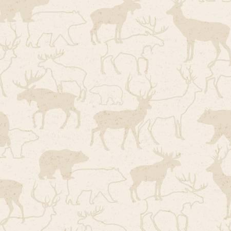 Beige Animal Silhouette Flannel