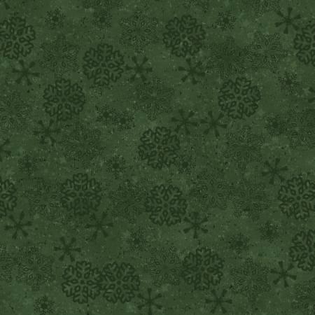 Green Snowflake Flannel