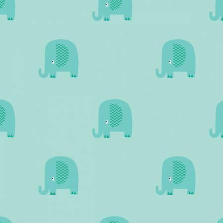 ELEPHANT FLANNEL AQUA