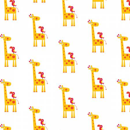 Flannel Basics Giraffe Yellow Flannel