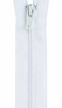 *All-Purpose Polyester Zipper 6in White