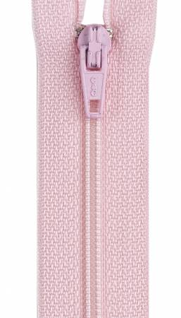 All-Purpose Polyester Coil Zipper 7in Light Pink