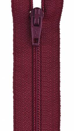 All-Purpose Polyester Coil Zipper 7in Barberry Red