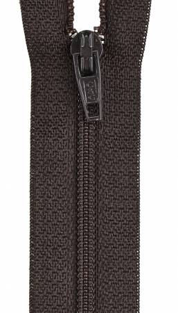 All-Purpose Polyester Coil Zipper 7in Cloister Brown