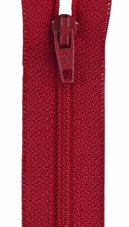 CC All-Purpose Polyester Coil Zipper 7in Red
