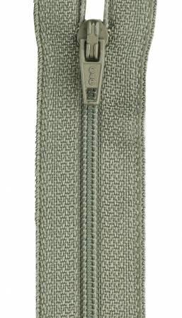 CC All-Purpose Polyester Coil Zipper 7in Green Linen