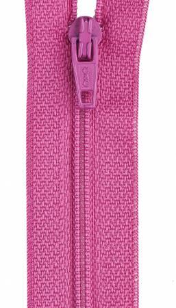 All-Purpose Polyester Coil Zipper 9in Dark Rose